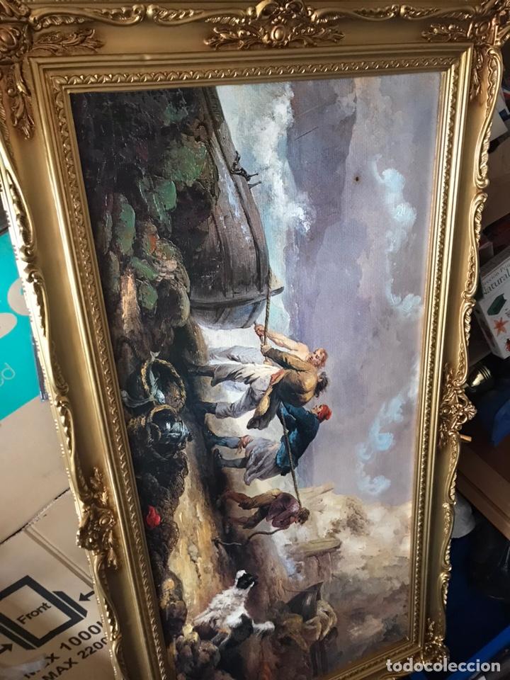 Arte: Cuadro pesquero pan de oro óleo 1,41x75 - Foto 14 - 167504377