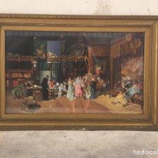 """Arte: COPIA AL ÓLEO DE """" LA VICARIA """" DE MARIANO FORTUNY. Lote 169297620"""