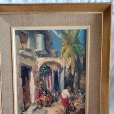 Arte: ÓLEO ORIGINAL JOSEP SARQUELLA I SCOBET 1928-2000. Lote 169325064