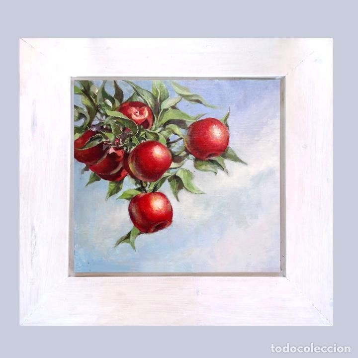 Arte: Pintura bodegón con manzanas - Foto 2 - 169339744