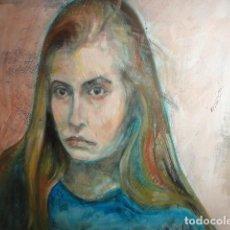 Arte: RETRATO MUJER OLEO SOBRE LIENZO ENMARCADO FIRMADO C. RUBIO SOLER MEDIDA 84 X 84 CM. . Lote 169352940