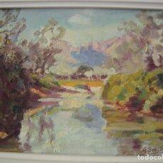 Arte: OLEO ORIGINAL. GUILLEM BESTARD. PAISAJE DE POLLENSA. MALLORCA. . Lote 169378700