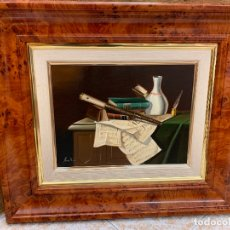 Arte: INTERESANTE ÓLEO SOBRE LIENZO DE MIRALLES BODEGON CULTURAL MUY BIEN REALIZADO, ENMARCADO Y IMPECABLE. Lote 169406316