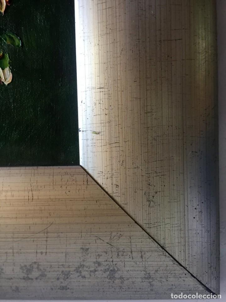Arte: CUADRO OLEO SOBRE TABLET FIRMA VALENTIN BODEGON DE FLORES - Foto 10 - 169473892