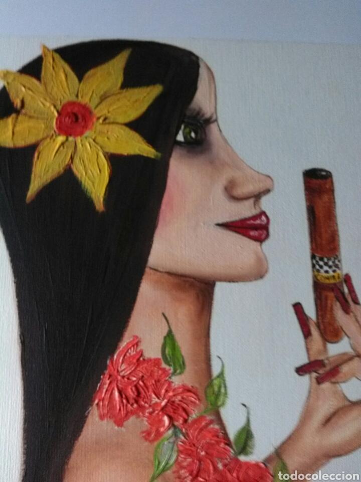Arte: COHÍBA.ÓLEO ALEK SANDER.DESNUDO. PRECIO ESTIMADO MERCADO 600€ - Foto 2 - 169367436