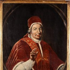 Arte: ESCUELA ITALIANA. SIGLO XVIII. RETRATO DE PAPA BENEDITO XIV. OLEO SOBRE LIENZO. Lote 169556752