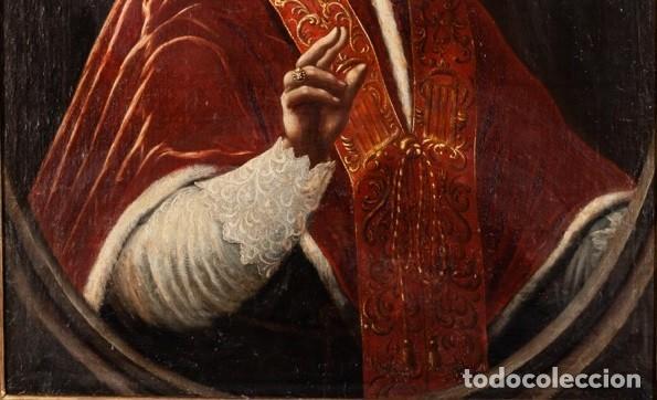 Arte: Escuela Italiana. Siglo XVIII. Retrato de Papa Benedito XIV. Oleo sobre lienzo - Foto 5 - 169556752