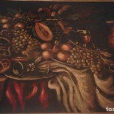 Arte: GRAN BODEGÓN DEL LORO. LIQUIDACION. FOTOS NUEVAS. MARCO DE ORO FINO.. Lote 169616202