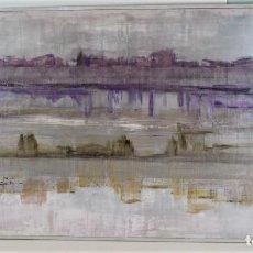 Arte: REFLEJOS EN PÚRPURA. CARIDAD SICILIA,ACRÍLICO SOBRE TABLA,DIMENSIONES 120 X 60 CM.. Lote 169644368
