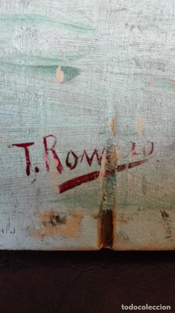 Arte: Paisaje sevillano siglo 19 óleo sobre tabla firmado - Foto 3 - 169651304