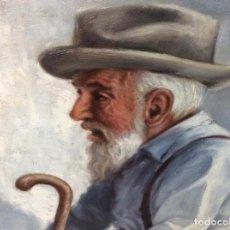 Arte: INCREÍBLE GRAN ÓLEO AUTOR MONTULL AÑO 74. MARCO PAN DE ORO. Lote 169725300