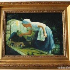 Arte: OLEO ORIGINAL DEL PINTOR RAMOS. Lote 169730784