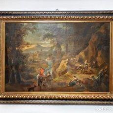 Arte: PINTURA CUADRO OLEO SOBRE LIENZO FLAMENCO SIGLO XVIII. Lote 169744044