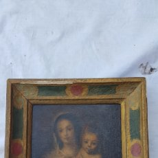 Arte: ANTIGUO ÓLEO A TABLILLA VIRGEN Y NIÑO ESCUELA SEVILLANA. Lote 169812566