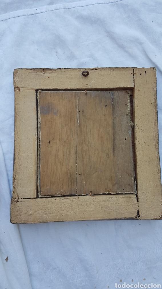 Arte: Antiguo óleo sobre lienzo y tablilla escuela sevillana - Foto 2 - 169812804