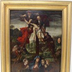 Arte: DESCENDIMIENTO DE LA CRUZ- ÓLEO SOBRE TABLA- ESCUELA FLAMENCA- S XVI. Lote 169886184