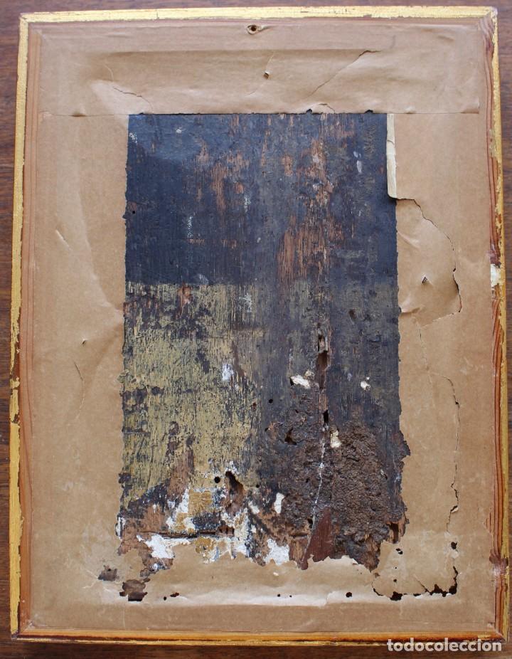 Arte: DESCENDIMIENTO DE LA CRUZ- ÓLEO SOBRE TABLA- ESCUELA FLAMENCA- S XVI - Foto 8 - 169886184