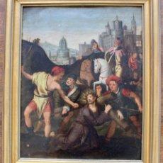 Arte: CAIDA DE CRISTO, EN EL CALVARIO- ESCUELA FLAMENCA- PRINCIPIO S XVII- ÓLEO SOBRE COBRE.. Lote 169887040