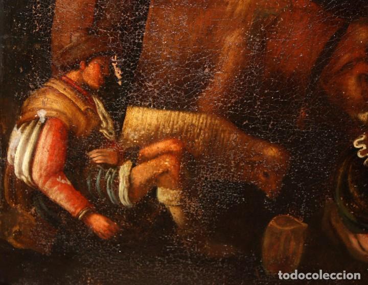 Arte: ESCUELA DE LOS BASSANO DEL SIGLO XVII. OLEO SOBRE LIENZO. ESCENA CAMPESTRE - Foto 5 - 169888372