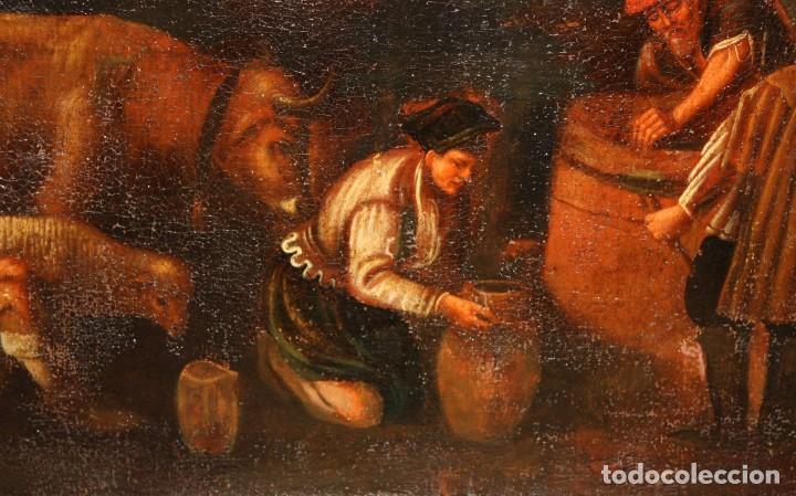 Arte: ESCUELA DE LOS BASSANO DEL SIGLO XVII. OLEO SOBRE LIENZO. ESCENA CAMPESTRE - Foto 6 - 169888372