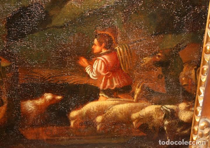 Arte: ESCUELA DE LOS BASSANO DEL SIGLO XVII. OLEO SOBRE LIENZO. ESCENA CAMPESTRE - Foto 9 - 169888372