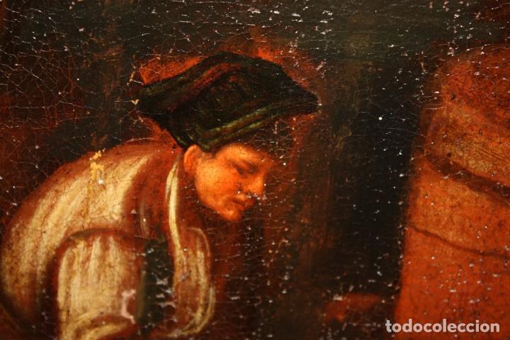Arte: ESCUELA DE LOS BASSANO DEL SIGLO XVII. OLEO SOBRE LIENZO. ESCENA CAMPESTRE - Foto 10 - 169888372