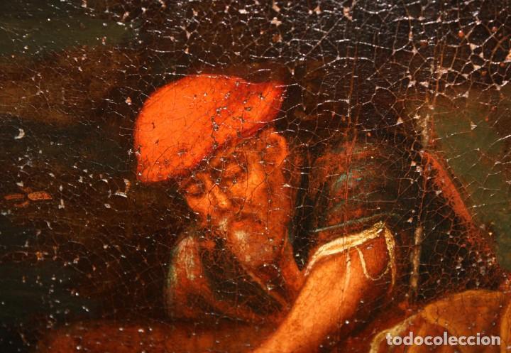 Arte: ESCUELA DE LOS BASSANO DEL SIGLO XVII. OLEO SOBRE LIENZO. ESCENA CAMPESTRE - Foto 11 - 169888372