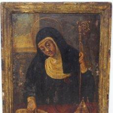 Arte: SANTA GERTRUDIS- ÓLEO SOBRE TABLA - POSIBLEMENTE ESCUELA VALENCIANA- S XVI . Lote 169888864