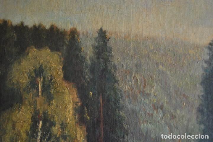 Arte: PRECIOSO ÓLEO SOBRE LIENZO - PAISAJE - BOSQUE - ESCUELA CENTROEUROPEA - FIRMADO SKOLLE - 1922 - Foto 6 - 169929672