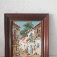 Arte: CUADRO PINTURA MANO SOBRE TABLA CON MARCO DE MADERA. Lote 169931993