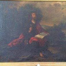 Arte: PÉREZ DE HOLGUÍN, MELCHOR, CÍRCULO DE (VIRREINATO PERÚ, 1660–1732):SAN JUAN EVANGELISTA EN PATMOS. Lote 169935098