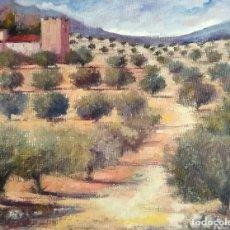 Arte: PINTURA AL ÓLEO.MOTIVO RURAL.MAR DE OLIVOS.. Lote 169947068