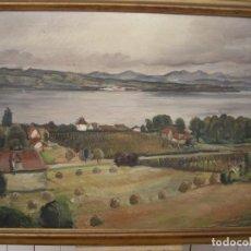 Arte: PINTURA AL OLEO ERNST DENZLER 1898-1996,BUEN TAMAÑO 80CM POR 60CM SIN MARCO. Lote 169958360