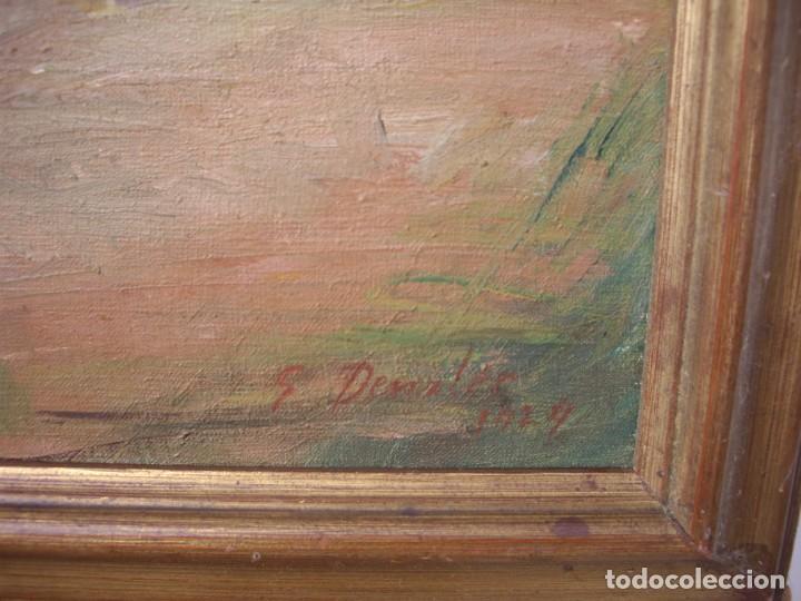Arte: pintura al oleo ernst denzler 1898-1996,buen tamaño 80cm por 60cm sin marco - Foto 2 - 169958360