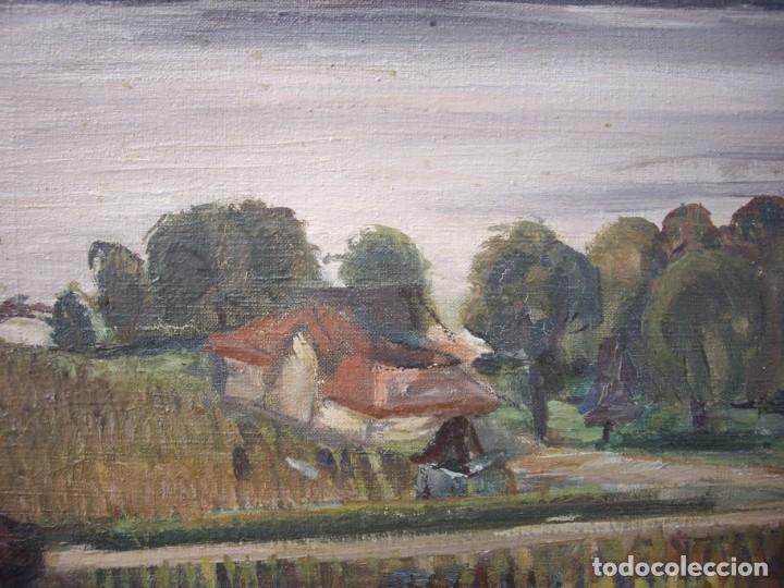 Arte: pintura al oleo ernst denzler 1898-1996,buen tamaño 80cm por 60cm sin marco - Foto 3 - 169958360