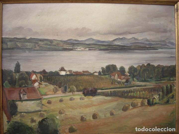 Arte: pintura al oleo ernst denzler 1898-1996,buen tamaño 80cm por 60cm sin marco - Foto 4 - 169958360