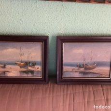 Arte: 2 MARINAS, AL ÓLEO ORIGINALES Y FIRMADAS. Lote 169967700