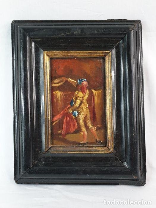 EL SEGUIDOR - EUGENIO LUCAS VELÁZQUEZ - OLEO SOBRE TABLA SXIX (Arte - Pintura - Pintura al Óleo Moderna siglo XIX)