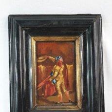 Arte: EL SEGUIDOR - EUGENIO LUCAS VELÁZQUEZ - OLEO SOBRE TABLA SXIX. Lote 169986280