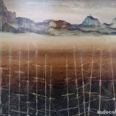 Arte: LUGRÍS VADILLO , URBANO ( VIGO,1942 - A CORUÑA,2018). BOSQUE DE MÁSTILES. ÓLEO SOBRE TABLA.. Lote 169996228