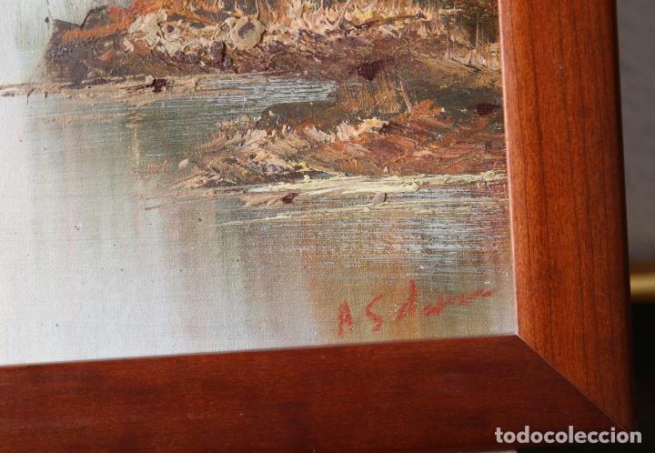 Arte: Pintura al oleo con marco firmada - Foto 5 - 170067932
