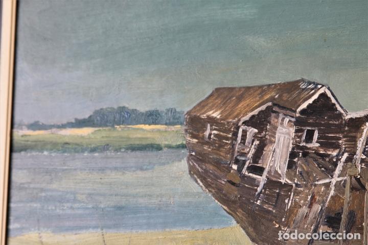 Arte: Antiguo oleo con marco firmado - Foto 2 - 170077124