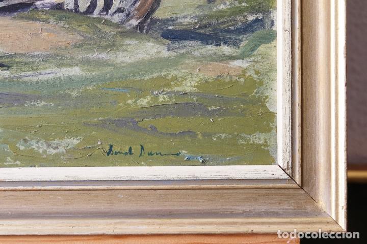 Arte: Antiguo oleo con marco firmado - Foto 6 - 170077124