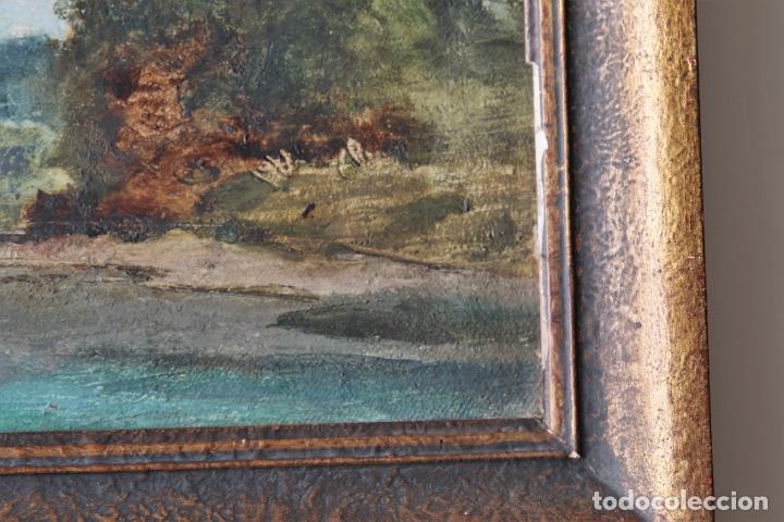 Arte: Antiguo oleo con marco firmado - Foto 2 - 170077936
