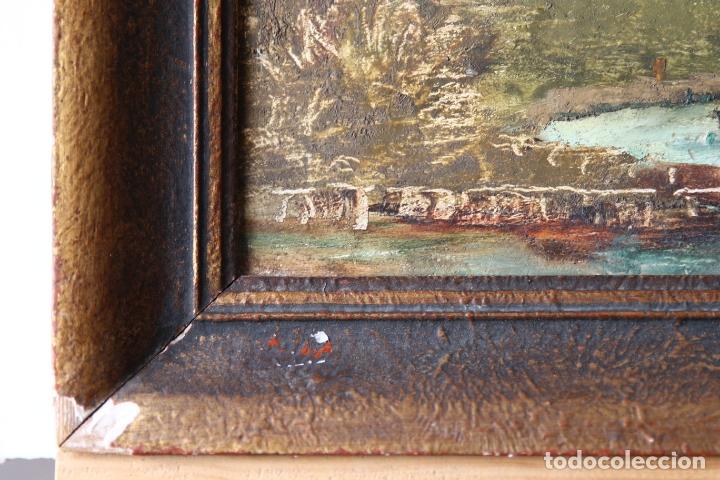 Arte: Antiguo oleo con marco firmado - Foto 3 - 170077936