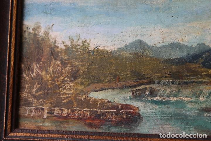 Arte: Antiguo oleo con marco firmado - Foto 4 - 170077936