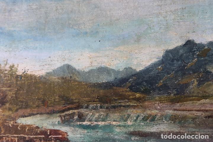 Arte: Antiguo oleo con marco firmado - Foto 5 - 170077936