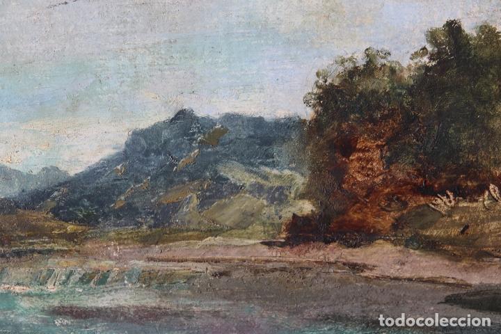 Arte: Antiguo oleo con marco firmado - Foto 6 - 170077936