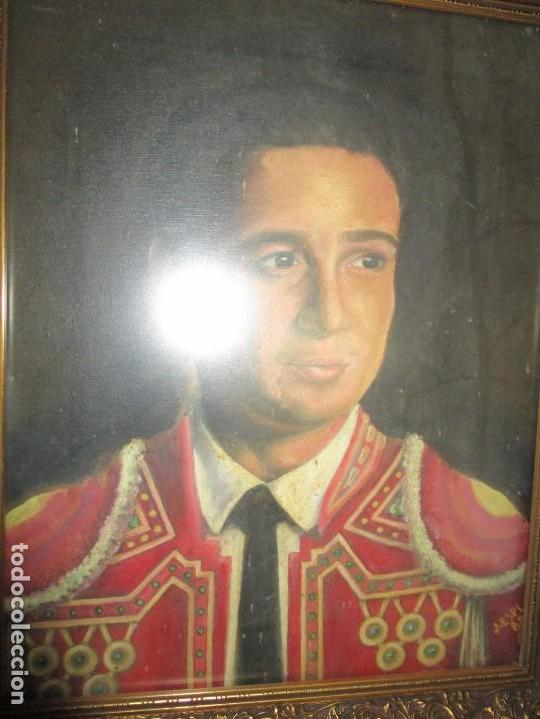 Arte: JOSE MARIA MANZANARES torero OLEO PINTURA ANTIGUA FIRMA j espla artista de hogueras de alicante - Foto 13 - 136244034