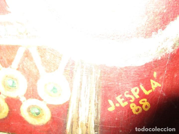 Arte: JOSE MARIA MANZANARES torero OLEO PINTURA ANTIGUA FIRMA j espla artista de hogueras de alicante - Foto 5 - 136244034
